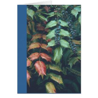 "NOTECARD, ""BLUE BERRIES ON GREEN LEAVES"" NOTE CARD"
