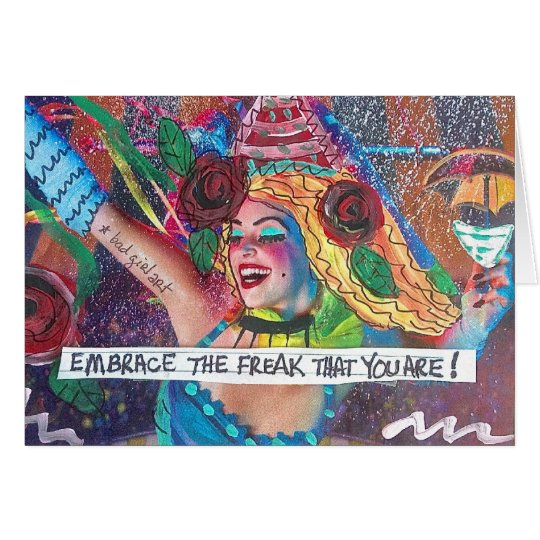 NOTECARD-EMBRACE THE FREAK THAT YOU ARE. CARD