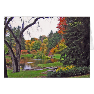 """notecard, """"Fall Colors  At Pond"""" Note Card"""