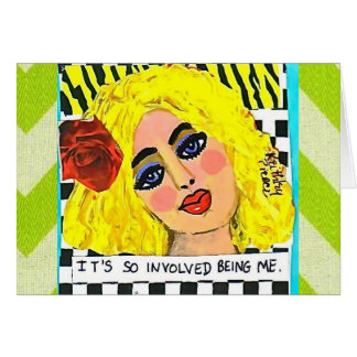 NOTECARD-IT'S SO INVOLVED BEING ME. NOTE CARD