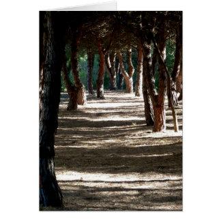 Notecard: Minorca Wood Card