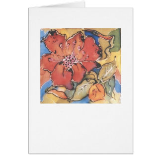 Notecard of a silk painting of a flower