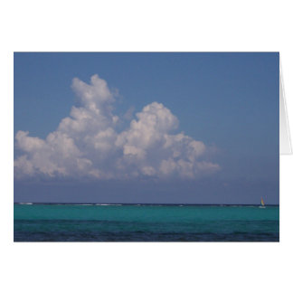 Notecard showing the Belize reef and horizon. Note Card