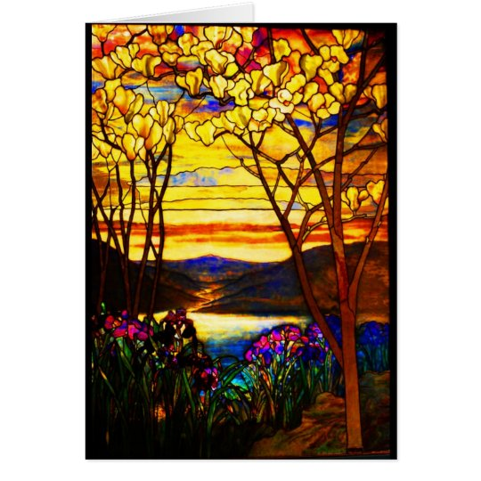 Notecard-Stained Glass-Tiffany 9 Card