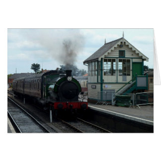 Notecard: Steam Train and Signal Box Card