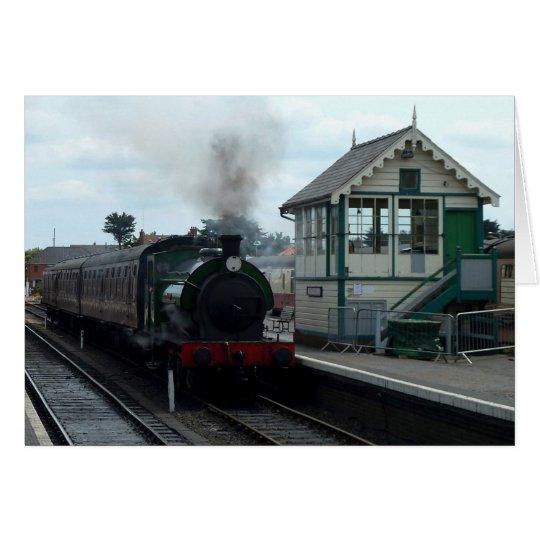Notecard: Steam Train and Signal Box Card