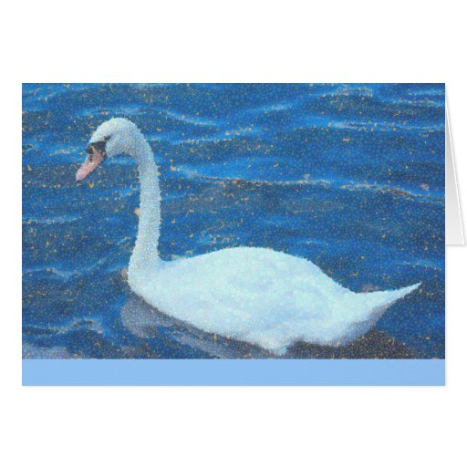 notecard, White Swan, Manipulated Photo, blank ins Greeting Cards