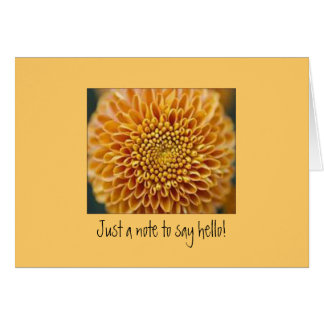 Notecard with chrysanthemum stationery note card