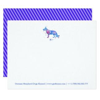 Notecards German Shepherd Watercolor Blue