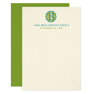 Notecards with centered monogram