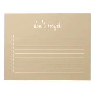 Notepad - don't forget bridal party