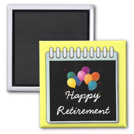 """Notepad: """"Happy Retirement"""" note Magnet"""