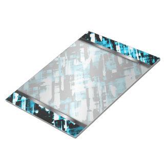 Notepad Hot Blue Black abstract digitalart G253