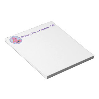Notepad Octopus For A Preemie US