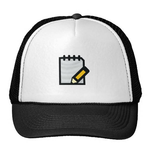 Notepad & Pencil Mesh Hat