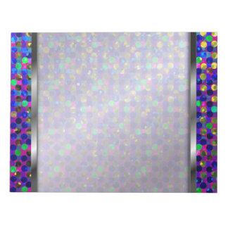 Notepad Polka Dot Sparkley Jewels