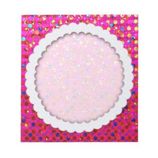 Notepad Polka Dots Sparkley Jewels