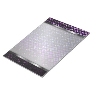 Notepad Purple Crystal Bling Strass