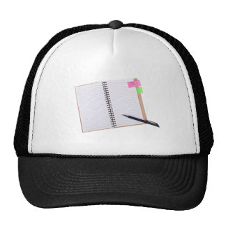 "Notepad with a ""Take Note"" reminder Mesh Hats"