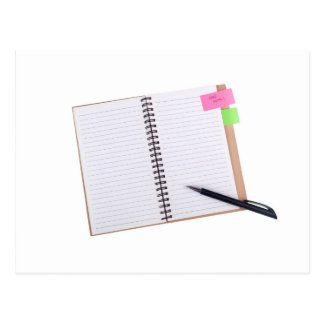 "Notepad with a ""Take Note"" reminder Postcard"