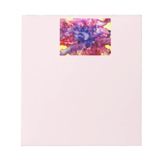 notepad with abstract modern art