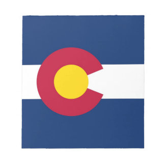 Notepad with Flag of Colorado State