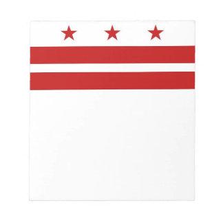 Notepad with Flag of Washington DC
