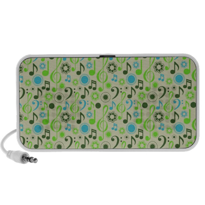 Notes and Clefs Notebook Speakers