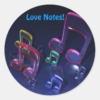 Notes! Collector Sticker Round Sticker