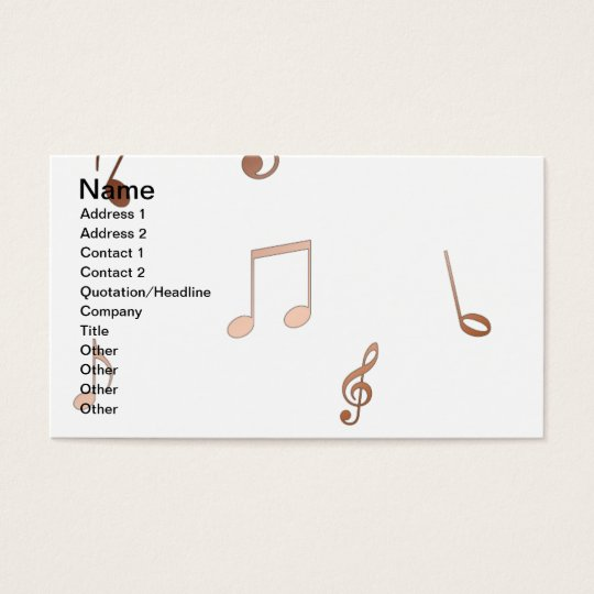 notes copper blue flut business  cards