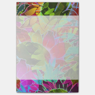 Notes Floral Abstract Artwork