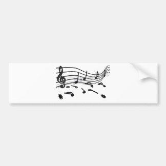 Notes, music bumper sticker