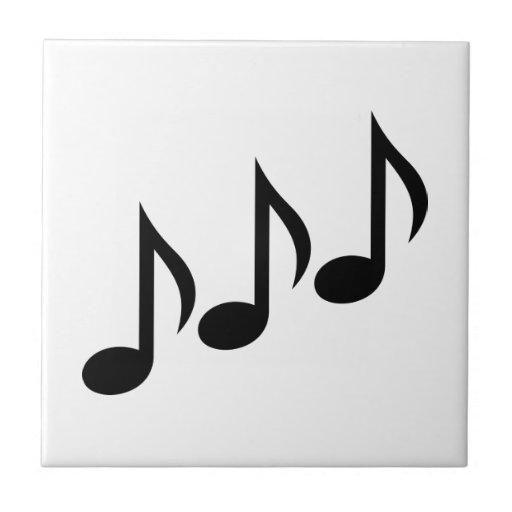 Notes music ceramic tiles