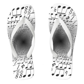 Notes of music flip flops