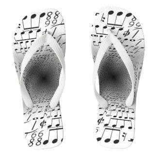 Notes of music flip flops