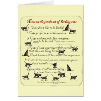 Notes on the Gentle Art of Herding Cats