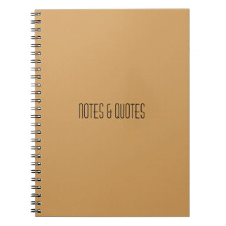 Notes & Quotes Reporter Notebook