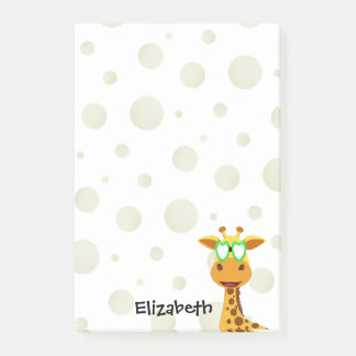 Notes with a giraffe