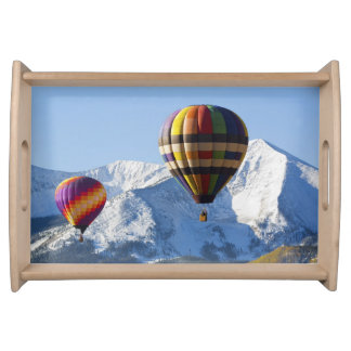 Noth America, USA, Colorado, Mt. Crested Butte, Serving Tray