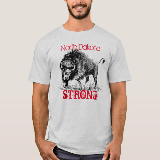 Noth Dakota Strong with American bison T-Shirt