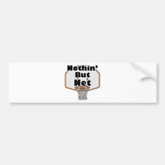 nothin but net basketball hoop car bumper sticker