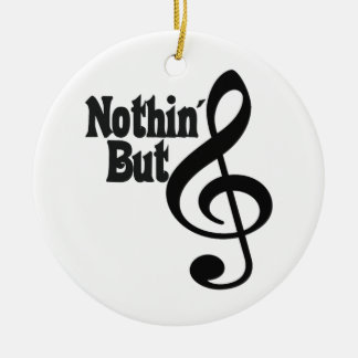 Nothin' But Treble Round Ceramic Decoration