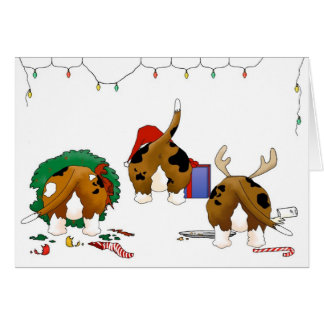 Nothin' Butt A Basset Christmas Greeting Card