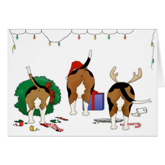 Nothin' Butt A Beagle Christmas Greeting Card