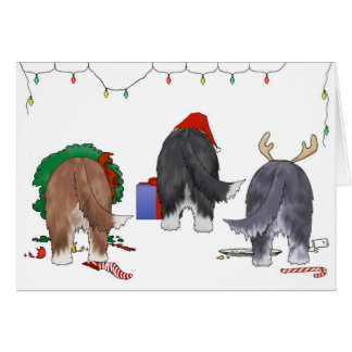 Nothin' Butt A Beardie Christmas Greeting Card
