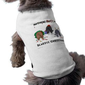 Nothin' Butt A Beardie Christmas Sleeveless Dog Shirt
