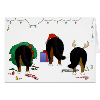 Nothin' Butt A Berner Christmas Card