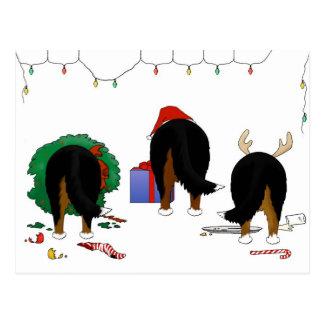 Nothin' Butt A Berner Christmas Postcard