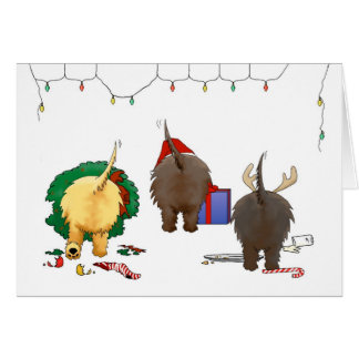 Nothin' Butt A Cairn Christmas Card