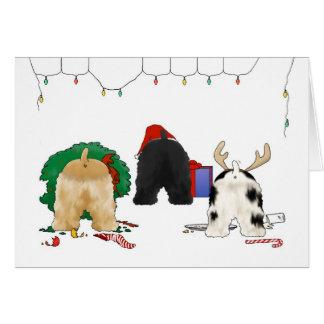 Nothin' Butt A Cocker Christmas Greeting Card